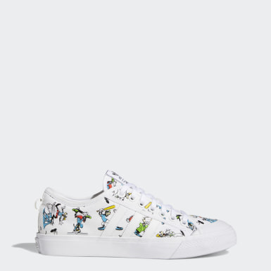 Men Originals White Nizza x Disney Sport Goofy Shoes