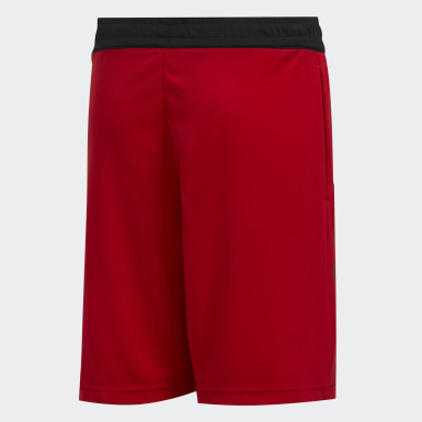 Kids Basketball Red Sport 3-Stripes Shorts