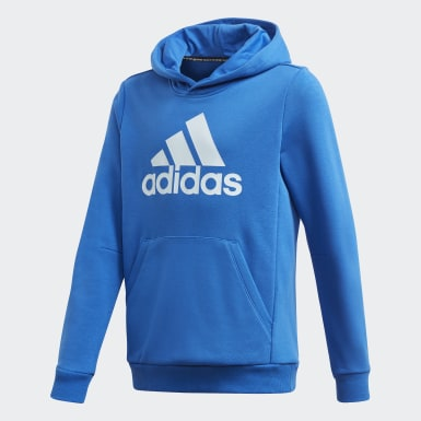 Jongens Training blauw Must Haves Badge of Sport Fleece Pullover