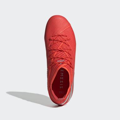 Barn Fotboll Röd Nemeziz 19.1 Firm Ground Boots