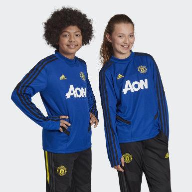 Kinder Fußball Manchester United Trainingsoberteil Blau