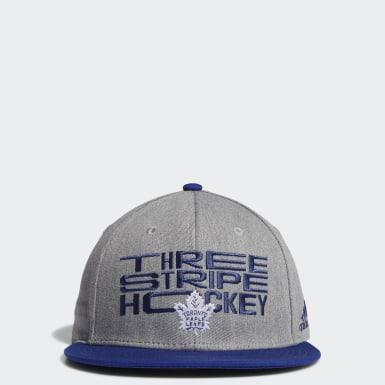 Men Training Multicolor Maple Leafs Three Stripe Hockey Snapback Cap