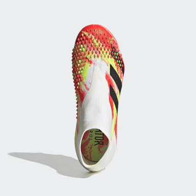 Jongens Voetbal Wit Predator Mutator 20+ Firm Ground Voetbalschoenen