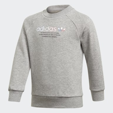 Ensemble Adicolor Crew Gris Enfants Originals