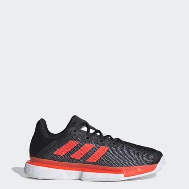 Men Tennis Black SoleMatch Bounce Hard Court Shoes