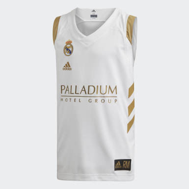 Kids 4-8 Years Basketball White Real Madrid Youth Jersey