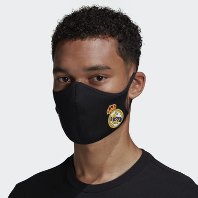 Lifestyle Black Real Madrid Face Covers M/L 3-Pack