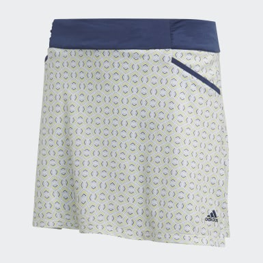 Kids Golf Blue Printed Skort