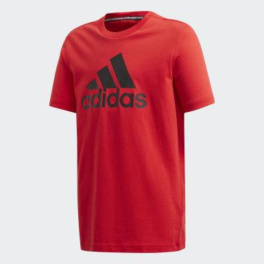 Kluci Joga červená Tričko Must Haves Badge of Sport