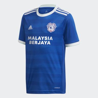 Maillot Domicile Cardiff City FC 20/21 Bleu Enfants Football