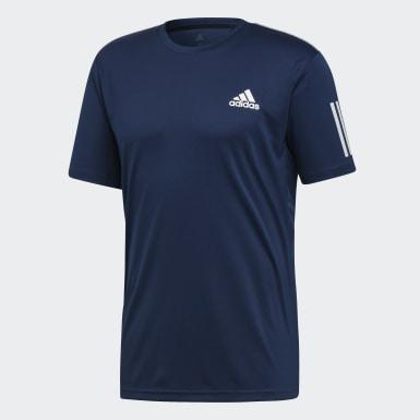 Männer Padel-Tennis 3-Streifen Club T-Shirt Blau