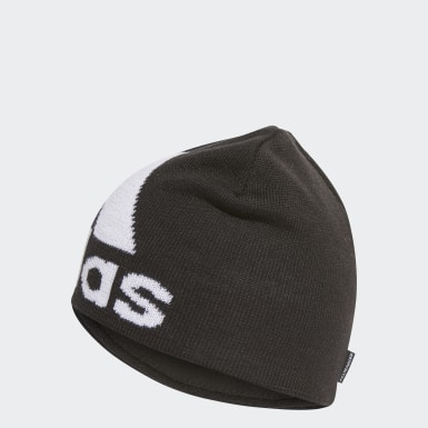 Running Black Big Logo Climawarm Beanie