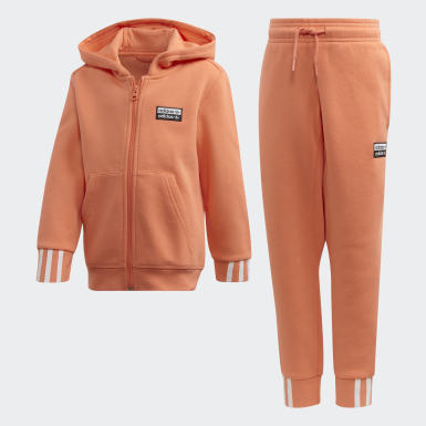 Children Originals Orange R.Y.V. Hoodie Set