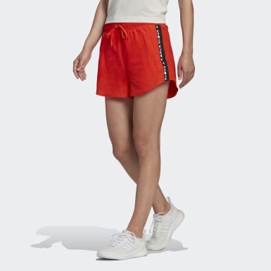 Women Running Orange Karlie Kloss Shorts