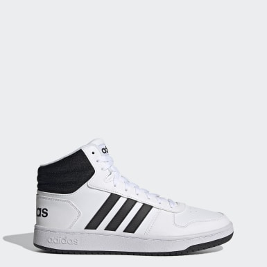 Basketbal wit Hoops 2.0 Mid Schoenen