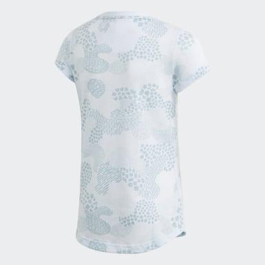 T-shirt Must Haves Graphic Bleu Filles Yoga
