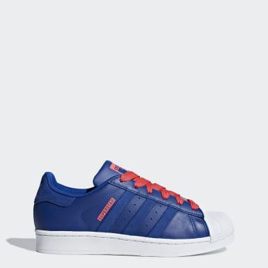 basket adidas hommes superstar bleu