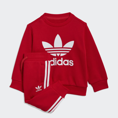 Ensemble Crew Sweatshirt Rouge Enfants Originals