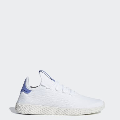 Women Originals White Pharrell Williams Tennis Hu Shoes