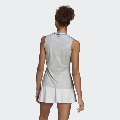 Women Tennis White Tennis Primeblue Printed Match Tank Top