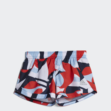 Children Training Red Printed Training Shorts