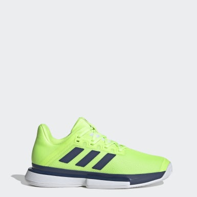 Men Tennis Green SoleMatch Bounce Hard Court Shoes