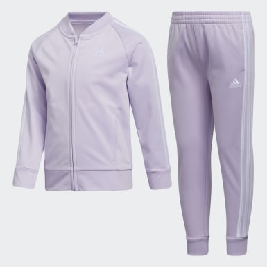 Children Training Purple Classic Tricot Jogger Set