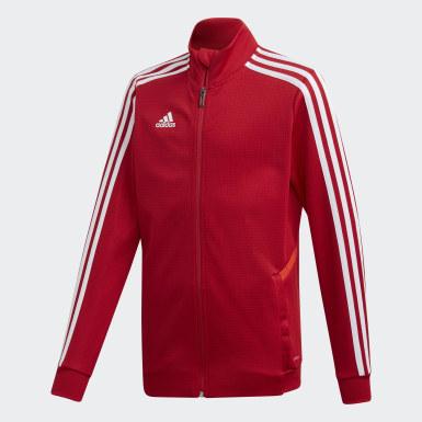 Veste d'entraînement Tiro 19 rouge Adolescents Soccer