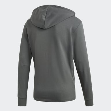 Heren Athletics Grijs Must Haves 3-Stripes French Terry Hoodie
