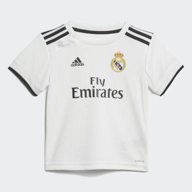 Kit bébés Real Madrid Domicile Blanc Enfants Football