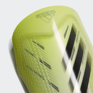 Football Yellow X Pro Shin Guards