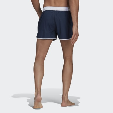 Men Swimming Blue Split Swim Shorts