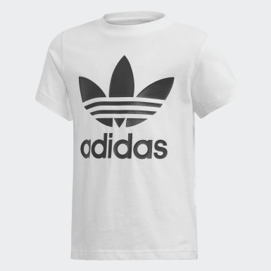 Conjunto camiseta y pantalón corto Trefoil Negro Niño Originals