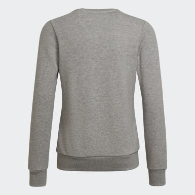 Sweat-shirt Linear Gris Filles Athletics