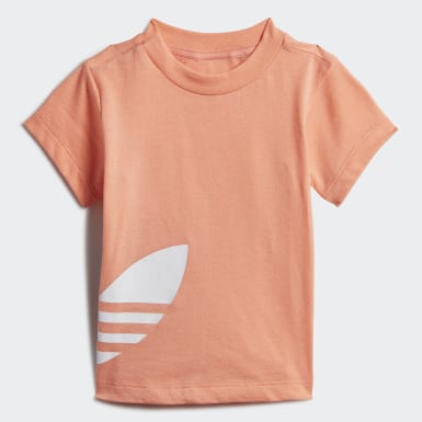 Infant & Toddler Originals Orange Big Trefoil Shorts Tee Set