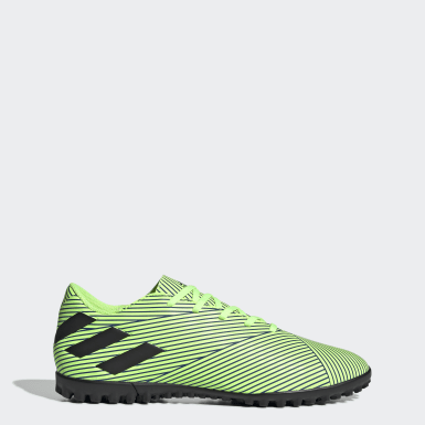 Men Soccer Green Nemeziz 19.4 Turf Shoes