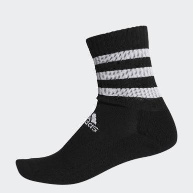 เทรนนิง สีดำ ถุงเท้าความยาวครึ่งแข้งนุ่มสบาย 3-Stripes