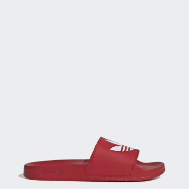 Originals สีแดง รองเท้าแตะ Adilette Lite