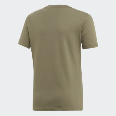 T-shirt Essentials Linear Logo Verde Ragazzo Athletics