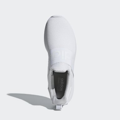 Men Essentials White Lite Racer Adapt Shoes