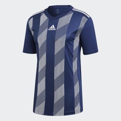 Heren Training Blauw Striped 19 Voetbalshirt
