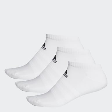 Running Cushioned Low-Cut Socken, 3 Paar Weiß