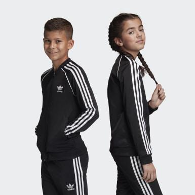 เด็ก Originals สีดำ เสื้อแทรคแจ็คเก็ต SST