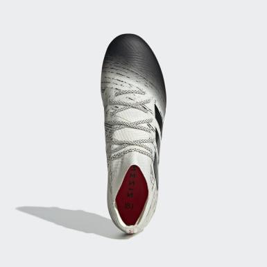 Calzado de Fútbol Nemeziz 18.1 Terreno Firme Beige Hombre Fútbol