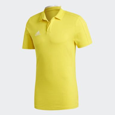 Mænd Fodbold Gul Condivo 18 Cotton polotrøje