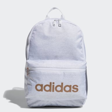 Children Training White Classic 3-Stripes Backpack