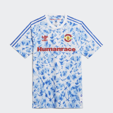 Men Football White Manchester United Human Race Jersey