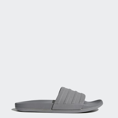 Men Essentials Grey Adilette Comfort Slides