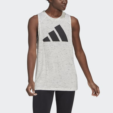 Playera sin Mangas adidas Sportswear Winners 2.0 Blanco Mujer Athletics