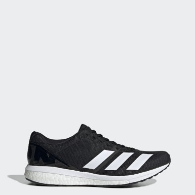 Men Running Black Adizero Boston 8 Shoes